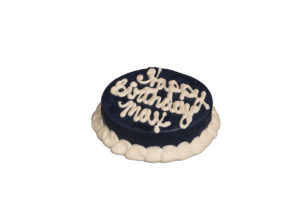 Barkery 4 Round Dark Blue Dog Birthday Cake