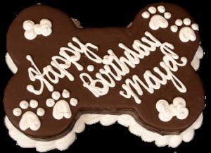 Barkery Carob Bone Dog Birthday Cake
