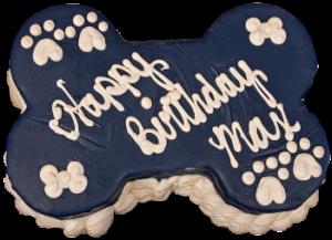 Barkery Dark Blue Bone Dog Birthday Cake