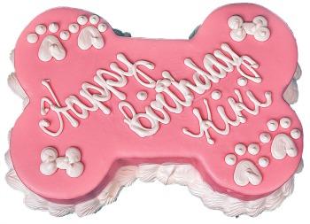 Barkery Pink Bone Dog Birthday Cake