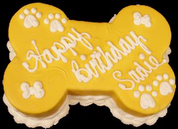 Barkery Yellow Bone Dog Birthday Cake
