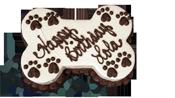 Bone Shaped Dog Birthday Cakes