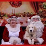 your dog's picture with santa, christmas dog treats, gourmet dog treats, treat of the month club for dogs